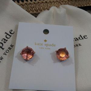 Kate Spade Rose Gold Light Peach Gumdrop Earrings